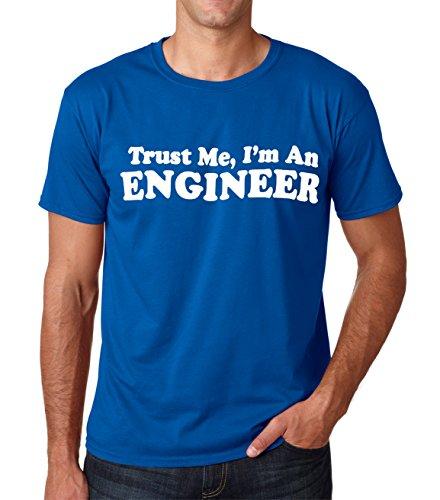 SignatureTshirts Men's Trust Me I'm an Engineer T-Shirt (Small, Royal)