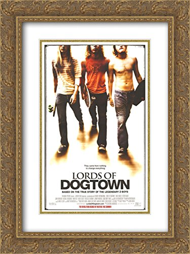 - Lords of Dogtown 20x24 Double Matted Gold Ornate Framed Movie Poster Art Print
