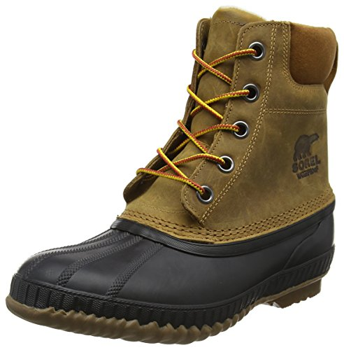 Sorel Men's Cheyanne II Snow Boot, Chipmunk, Black, 8 D US (Men Boots 8 Size Snow)
