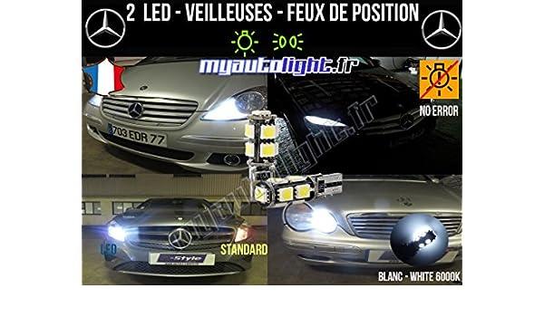 Bombillas Luz de posición LED - Mercedes Clase C - W5 W blanco xenón: Amazon.es: Coche y moto