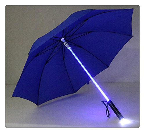 Lightsaber Umbrella 7 Colour changing LED Light on the Shaft & Built in Torch in the Bottom Rain Umbrella