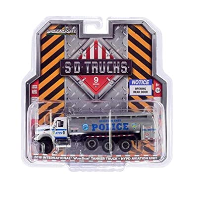 Greenlight 45090-A S.D. Trucks Series 9-2020 International WorkStar Tanker Truck - New York City Police Dept NYPD Aviation Unit 1:64 Scale: Toys & Games