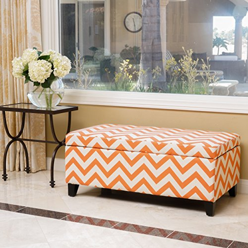 Brenway Pattern Fabric Storage Ottoman product image