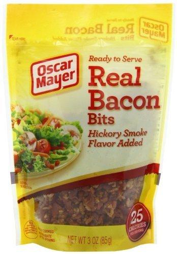 Oscar Mayer Real Bacon Bits, Hickory Smoke Flavor 3 Oz (Pack of 4) by Oscar Mayer by Oscar Mayer