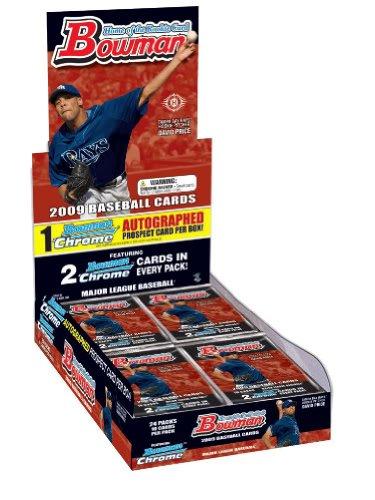 2009 Baseball - 2009 Bowman Baseball Cards Factory Sealed Hobby Box (24 Packs/Box - 1 Auto/Box and Chrome Cards)