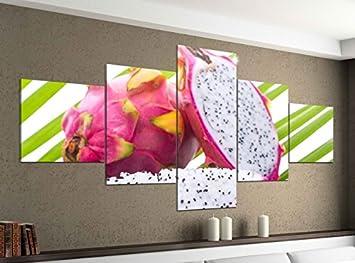 Amazon.de: Acrylglasbilder 5 Teilig 200x100cm Drachenfrucht Obst ...