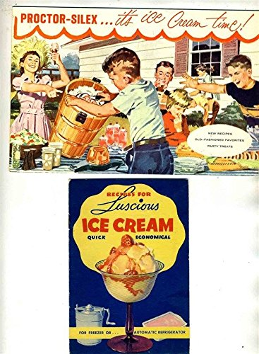 2 Old Ice Cream Recipe Booklets Jello Ice Cream Powder Proctor Silex Freezers