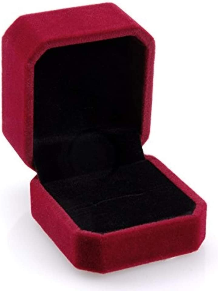 Geff House Velvet Ring Box – Jewelry Display & Gift Box - Removable Insert & Soft Lining - Engagement Ring Case & Organizer