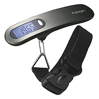 Spigen E500 Luggage Scale Digital Output with 110 lb Capacity and Tare Function and Backlit Display