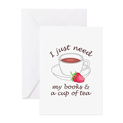 Amazon Cafepress Books And Tea Greeting Cards Greeting