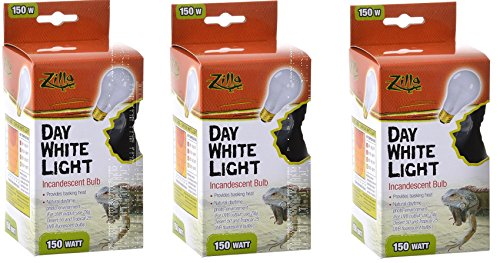 Pictures of (3 Pack) Zilla Reptile Terrarium Heat Lamps Incandescent Bulb, Day White, 150W 1