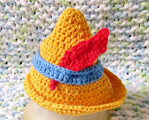 Crochet Disney's Pinocchio Inspired Baby Girl Outfit/Costume to Photo Prop (6-9 Months, hat only) -