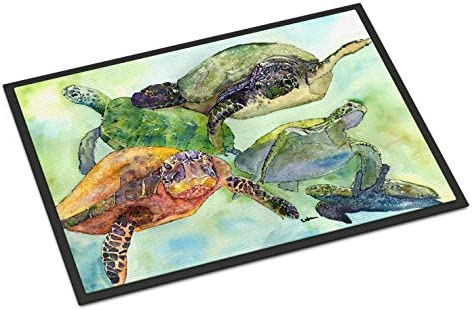Caroline s Treasures 8549JMAT Turtle Indoor or Outdoor Mat 24×36 Doormat, 24H X 36W, Multicolor