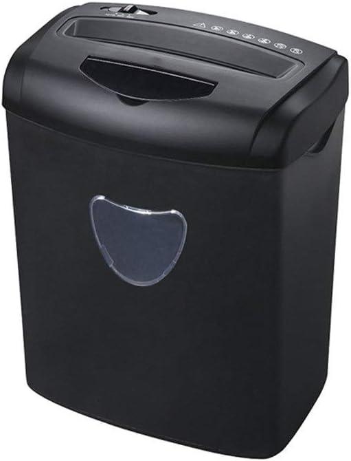 電気ペーパーシュレッダー ハイパワーファイルの断片の形シュレッダークロスカット紙/CD /クレジットカードシュレッダーで20L引き出し式バスケット、オフィス用の4つのキャスター オフィスシュレッダー (色 : ブラック, サイズ : 42x33x23cm)