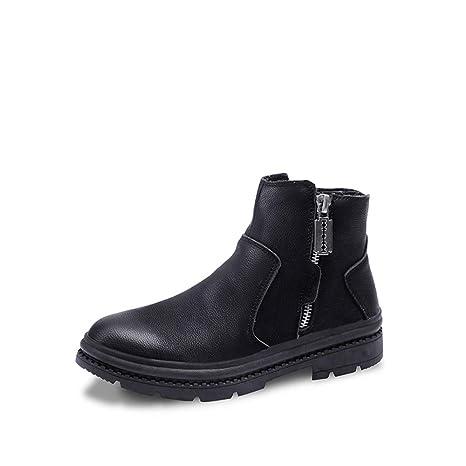Jiuyue-shoes, Botas para Hombre 2018 Botines para Hombre Top Zip Classic Work Casual