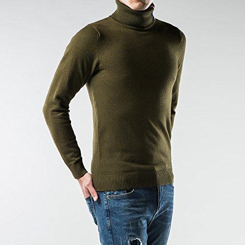 Jdfosvm EIN Hemd, ärmel Kopf verhafteten männer im Winter warm und gemütlich langärmelige Pullover,Army Grün,XL