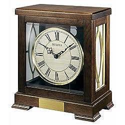 Bulova B1653 Victory Mantel Chime Clock-B1653, Brown