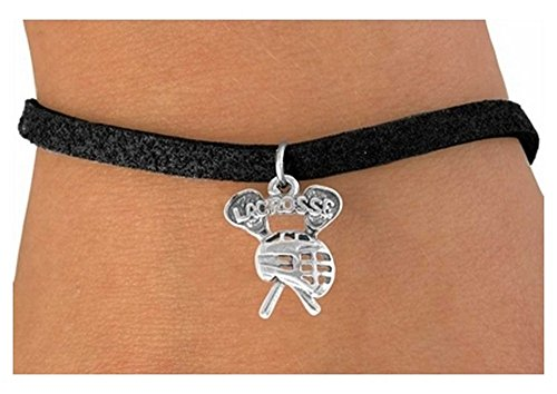 'Lacrosse, Sticks With Goalie Helmet' Charm & Bracelet