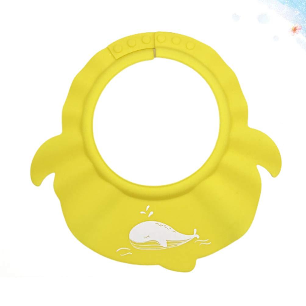 TOPBATHY champ/ú de ba/ño para beb/és gorro de lavado visera para ducha gorro de ba/ño cabeza enjuagadora de cabello protecci/ón de escudo para ni/ños beb/és ni/ños peque/ños amarillo