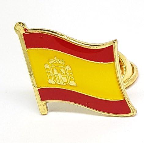 Shopiyal Broche con Insignia de la Bandera Nacional de España, esmaltado, Metal esmaltado, para Solapa, para Ropa, Chaquetas, Abrigos, Gorras, Bolsas, Mochilas: Amazon.es: Hogar