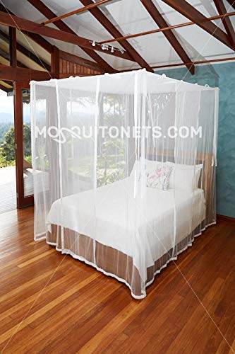 Mosquito NET Bed Canopy | Queen Size Bed Net | Easy Care Machine Washable Mosquito Netting | Secure Insect Protection with The Designer Mosquito net by MosquitoNets (Image #3)