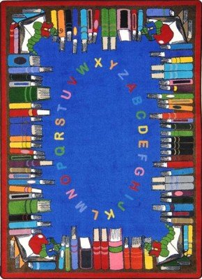"Joy Carpets Kid Essentials Language & Literacy Read and Learn Rug, Multicolored, 5'4"" x 7'8"""