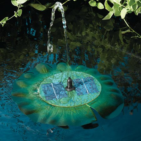 Smart Solar Lily Pad Fountain Sprays up to 15 inches