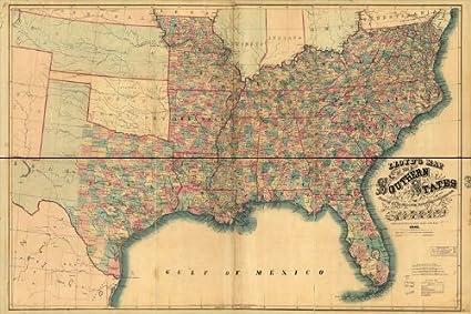 Amazon.com: Civil War Map Reprint: Lloyd\'s map of the southern ...