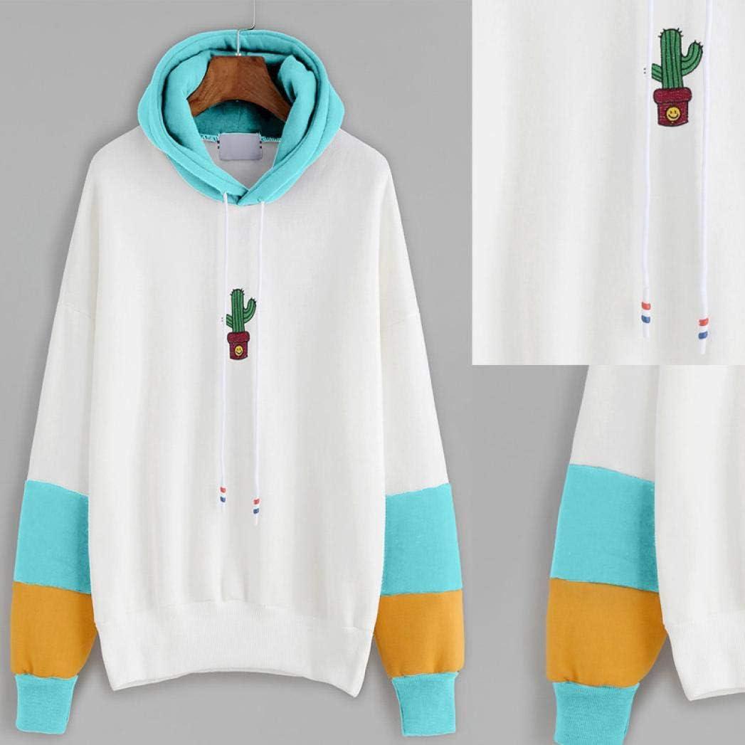 Covermason Femme Sweat /à Capuche Hoodie Manche Longue Manteau Top Imprime Cactus Chic Top Blouse Pull Fashion Casual Pull Chemisier