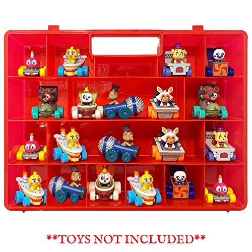 (Life Made Better The New and Improved Stronger Carrying Case and Toy Storage Box in Red. Compatible with Funko Racers, Created by LMB)