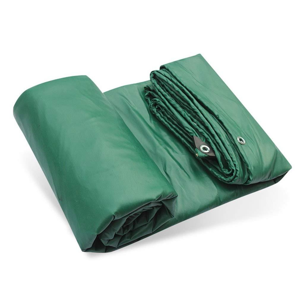 ターポリン アイレットが付いている頑丈な防水シート防水ポリ塩化ビニールの防水シートの陰のプラスチックテントの日除け布の地面シートカバー、500gramm / square、緑 (サイズ さいず : 4mx8m) B07S3Z7SWS  4mx8m