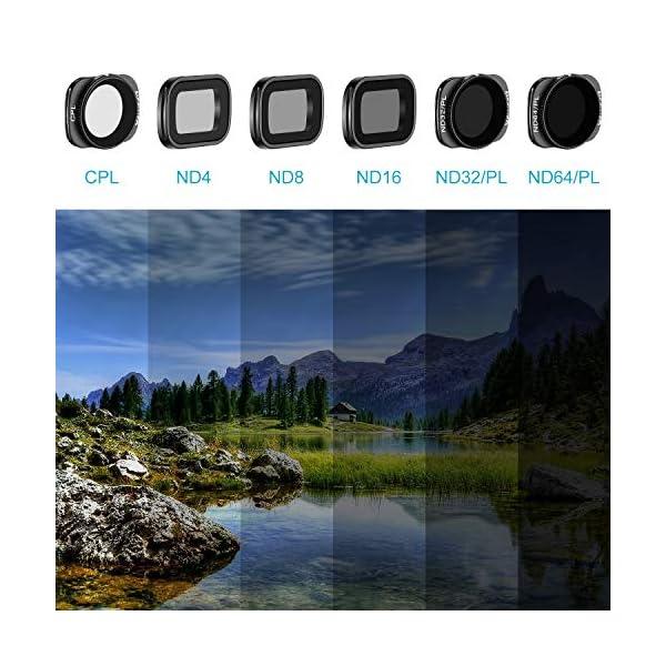 Neewer Filtri Magnetici per DJI Osmo Pocket 2/1 Fotocamera Lenti Include Filtri ND4 ND8 ND16 CPL ND32/PL ND64/PL Multi-Rivestiti con Scatola per Fotografia Esterna(Nero) 7 spesavip