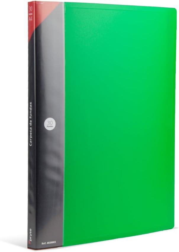 Pryse A4-30 Carpeta fundas color verde