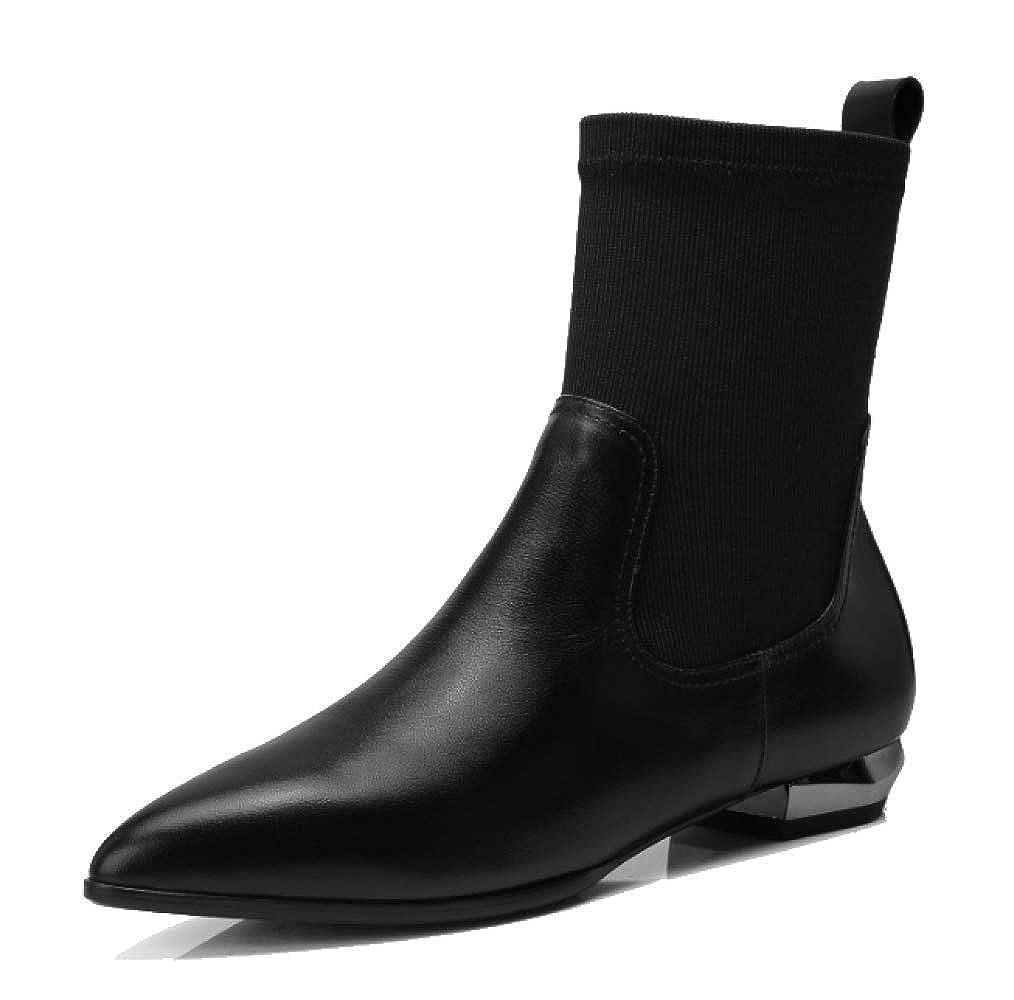 YCGCM Damenstiefel Herbst Und Winter Europäische Und Amerikanische Minimalistische Stiefel Dehnen Sich Aus