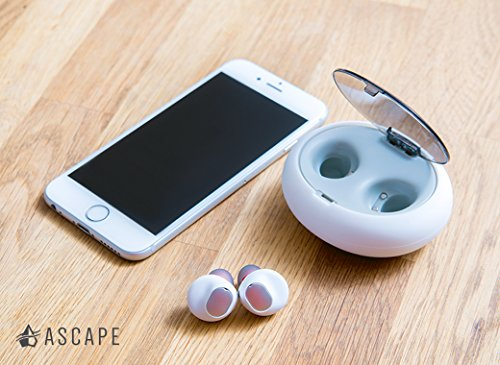 Ascend 1 Truly Wireless Earbuds - Sweatproof In-Ear Noise Cancelling - Bluetooth 4.2 & Mic - U.S. Designed - True Completely Wireless Earbuds - MADE FOR: iPhone 6s / 7 / 8 / X (White) by Ascape (Image #1)