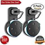 Echo Dot Wall Mount Amazon Echo Wall Mount Dot Holder Alexa Dot Plug Mount A Space-Saving Wall Mount Echo Dot for Smart Home Speaker Without Messy Wires or Screws (Pack 2, Black Black)