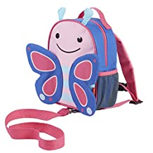 Skip Hop Zoo Little Kid and Toddler Safety Harness Backpack, Blossom Butterfly