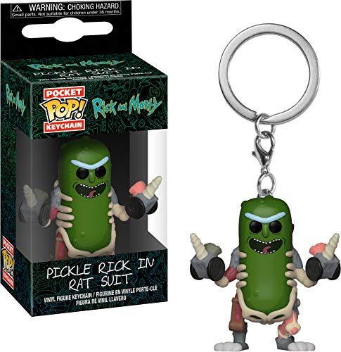 Funko Pop! Rick & Morty - Keychain Pickle Rick In Rat Suit