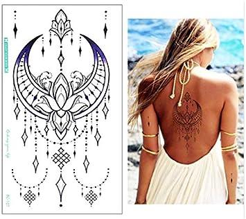 Diseños Pecho Flash Tatuaje Flor Grande Pendientes Collar ...