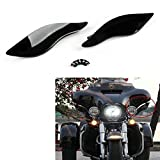Areyourshop 2 x ABS Plastic Side Wings Air Deflectors For Harley Davidson Touring FL 14-2018