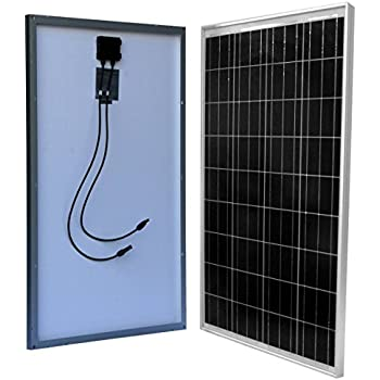 WindyNation 100 Watt 100W Solar Panel for 12 Volt Battery Charging RV, Boat, Off Grid