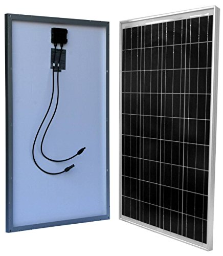 WindyNation 100 Watt 100W Solar Panel for 12 Volt Battery Charging RV, Boat, Off Grid (Solar Panel Hook Up)