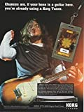 """Magazine Print Ad: 2006 RHCP's John Frusciante for KORG DTR-2000 Digital Rack Tuner,""""Chances are, if your boss is a hero, you're already using Korg tuners"""""""