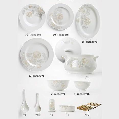 Liuwenan Tazón de Cubiertos Juego de Cubiertos para el hogar ...