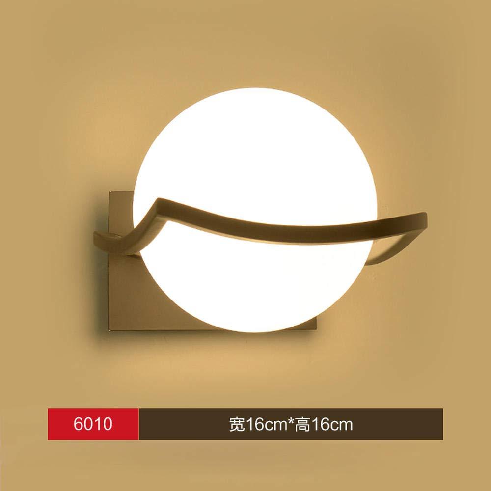 Xc6010 + Schwarz+ 9wled Birne + Warmes 3D Nachtlicht Lampenkreatives Wandleuchte Nachttischlampe Schlafzimmer Lampe Kreativen Hintergrund Wandleuchte Treppenhaus Flur Lampe @ Xc6067 + Gold-Version + Senden 9Wled Birne + Warmes Licht