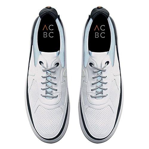 ACBC Scarpa Sneakers con Stringa Corsa Suola e Scarpa Bianca con Zip