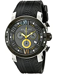 MULCO Mens MW5-3219-029 Prix Tire Analog Display Swiss Quartz Black Watch