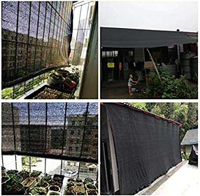 BAIYING Malla Sombra De Red Suculentas Protector Solar Balcón Cubrir Pérgola Coche Cubierta Al Aire Libre Anti-pájaro Polietileno, 15 Tallas (Color : Black, Size : 2x2m): Amazon.es: Hogar