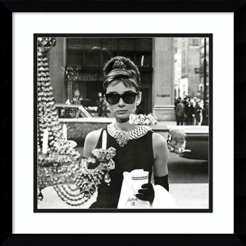 Amanti Art Framed Art Print 'Audrey Hepburn Breakfast At Tiffany's (Window)': Outer Size x 18