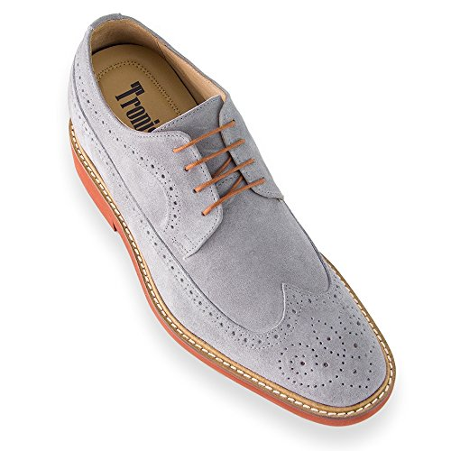 Hoogte Toenemende Schoenen Voor Mannen. Groter Zijn 7 Cm / 2.75 Inch. Model Corby B Grijs